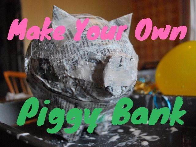 Make your own piggy bank momma bird blog for Make your own piggy bank