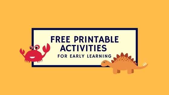 Free Printable Activities (For Early Learning)